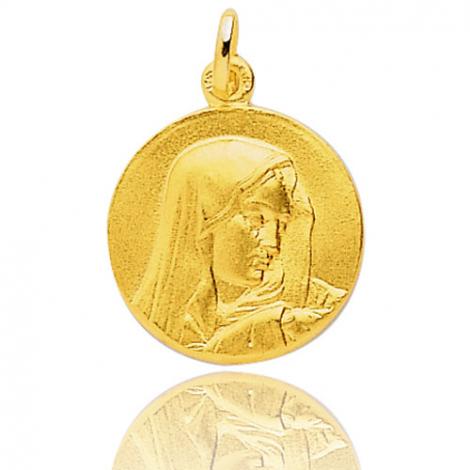 Médaille vierge  Or Jaune 19 mm Lurilla