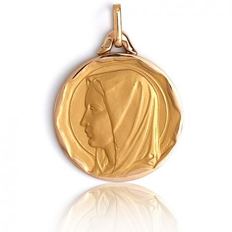 Médaille vierge  Or Jaune 20 mm Marilyne