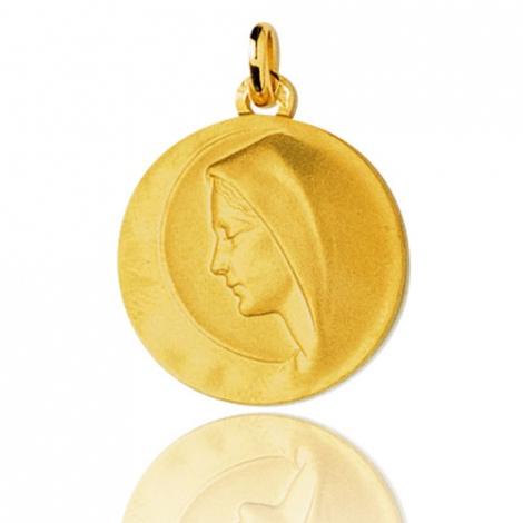 Médaille vierge  Or Jaune 20 mm Morgane