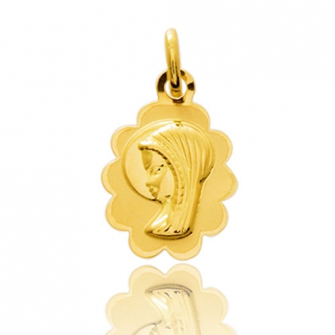 Médaille vierge  Or Jaune  Alicia