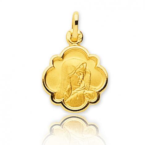 Médaille vierge  Or Jaune  Amélie