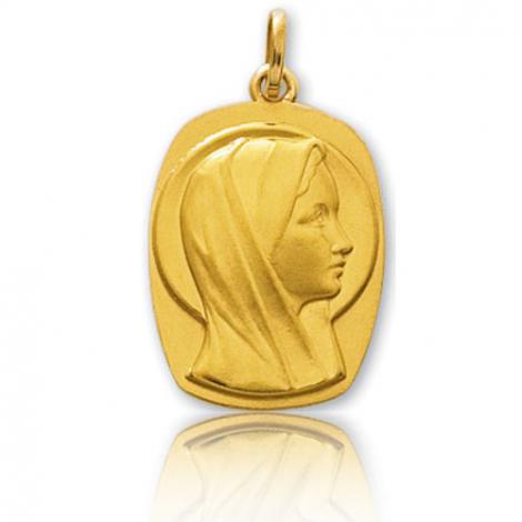 Médaille vierge  Or Jaune  Audrey