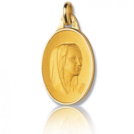 Médaille vierge  Or Jaune  Barbara