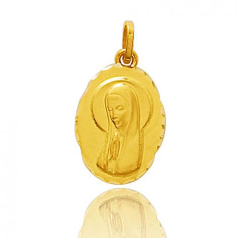 Médaille vierge  Or Jaune  Hannah