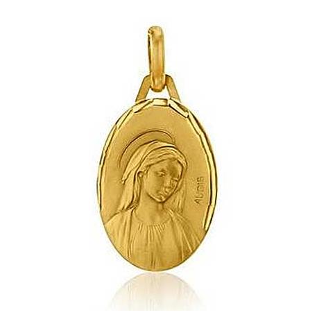 Médaille Vierge Profil Augis en Or Jaune  Lorena 3500036600