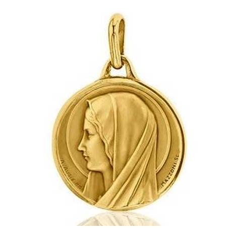 Médaille Vierge Santa Maria Augis patine main en Or Jaune 23 mm Liana 3500001800