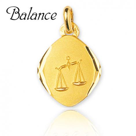 Médaille Zodiac Balance Or Jaune Éléannor