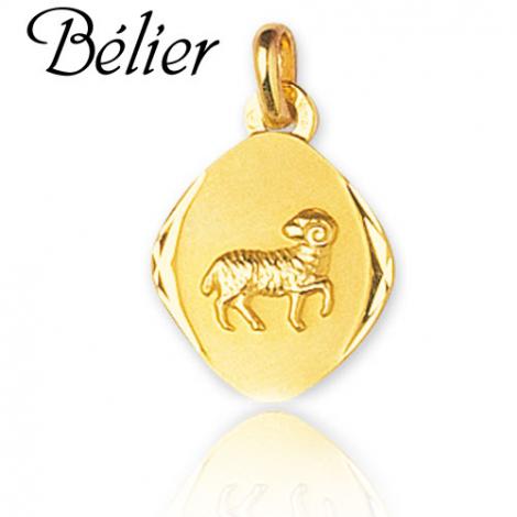 Médaille Zodiac Bélier Or Jaune lauraline
