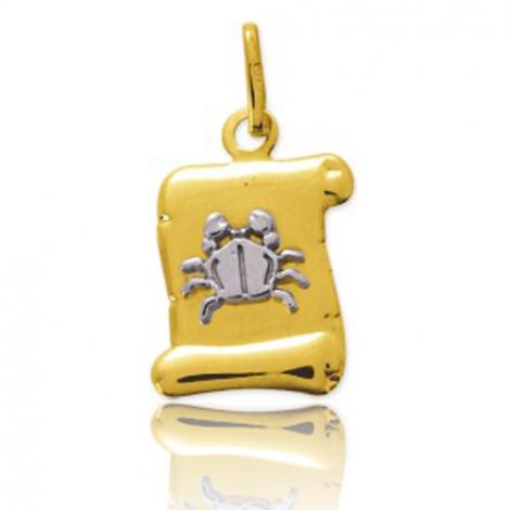 Médaille Zodiac Cancer 2 Ors Marylène