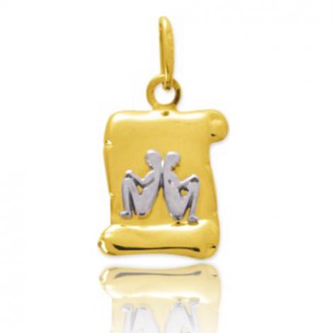 Médaille Zodiac Gémeaux 2 Ors Alana
