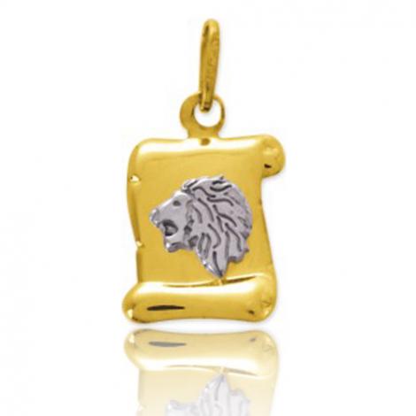 Médaille Zodiac Lion 2 Ors Camille