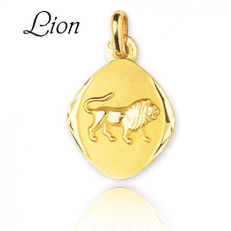 Médaille Zodiac Lion Or Jaune Emilie