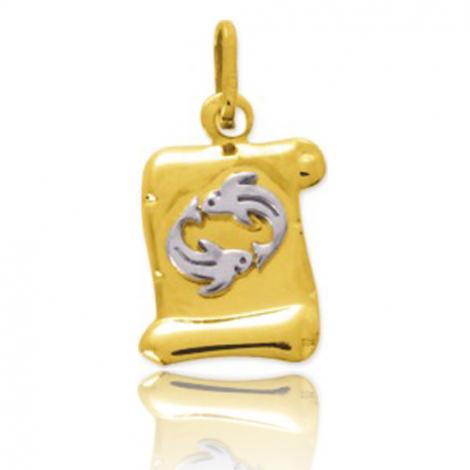 Médaille Zodiac Poissons 2 Ors Erica