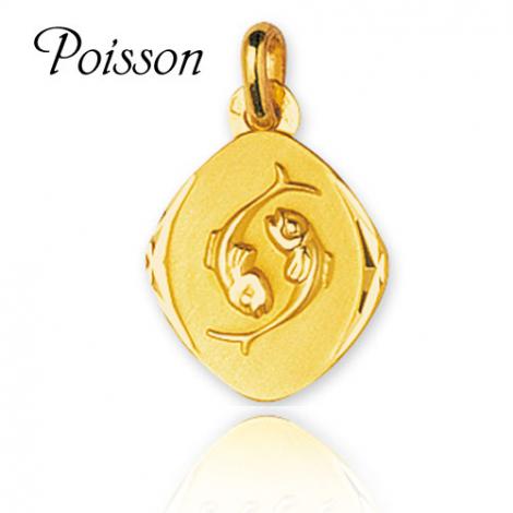 Médaille Zodiac Poissons Or Jaune Liliana