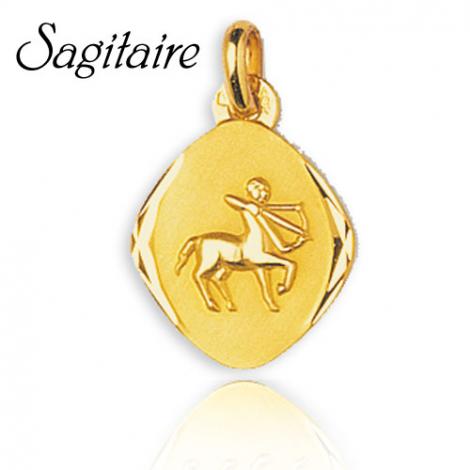 Médaille Zodiac Sagittaire Or Jaune Lisa