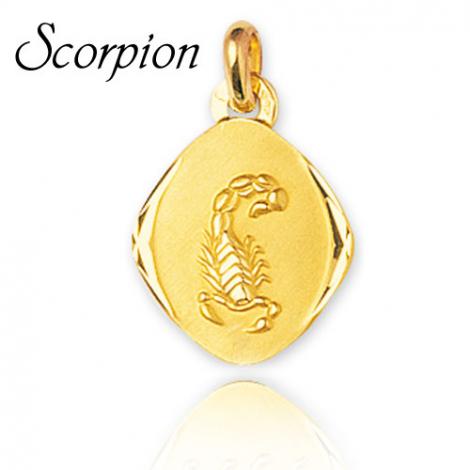 Médaille Zodiac Scorpion Or Jaune Eugènie