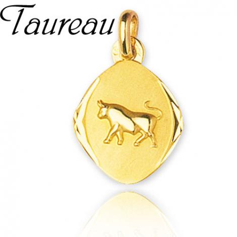 Médaille Zodiac Taureau Or Jaune Adriana