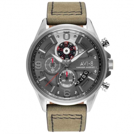 Montre AVI-8 Hawker Harrier II  Cadran Gris - AV-4051-03