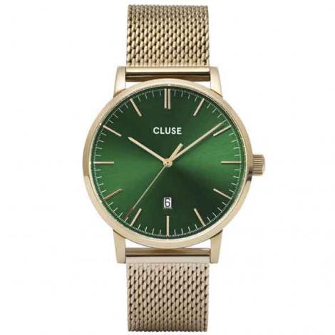 Montre Cluse Aravis mesh gold green/gold -  - CW0101501006
