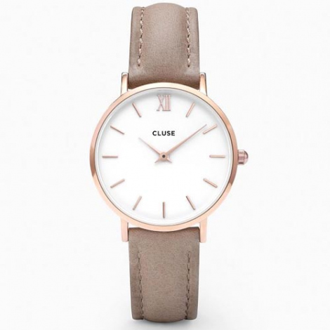 Montre Cluse Cluse Minuit Rose Gold White Hazelnut - 33 mm - CL30043