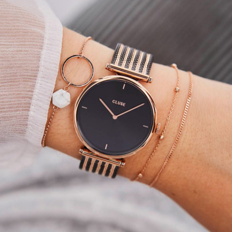 Cluse Triomphe Mesh Rose Gold
