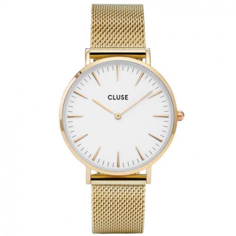 Montre Cluse La Bohème Mesh Gold/White  - 38 mm - CW0101201009