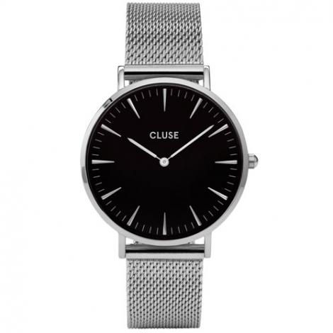 Montre Cluse La Bohème Mesh Silver/Black - 38 mm - CW0101201004