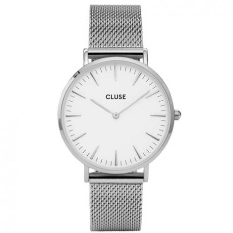 Montre Cluse La Bohème Mesh Silver/White - 38 mm - cw0101201002
