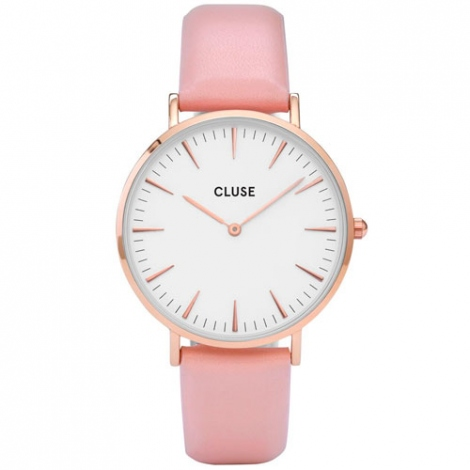 Montre Cluse La Bohème Rose Gold White/Pink  - 38 mm - CW0101201012