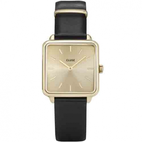 Montre Cluse La tétragone Gold Gold/Black - 28.5 mm - CL60004