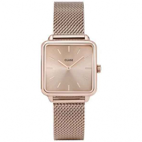 Montre Cluse La tétragone Mesh Full Rose Gold - 28.5 mm - CL60013