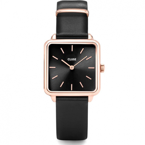 Montre Cluse La Tétragone Rose Gold Black/Black - 28.5 mm - CL60007
