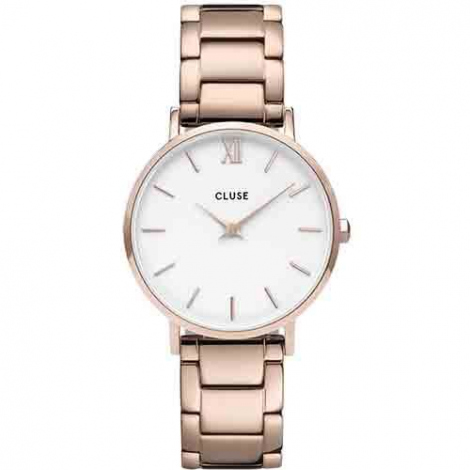 Montre Cluse Minuit 3-Link Rose Gold White/Rose Gold -  - CW0101203027
