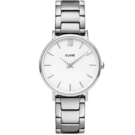 Montre Cluse Minuit 3-Link Silver White/Silver -  - CW0101203026