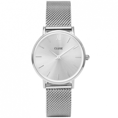 Montre Cluse Minuit Mesh Full Silver  - 33 mm - CW0101203011
