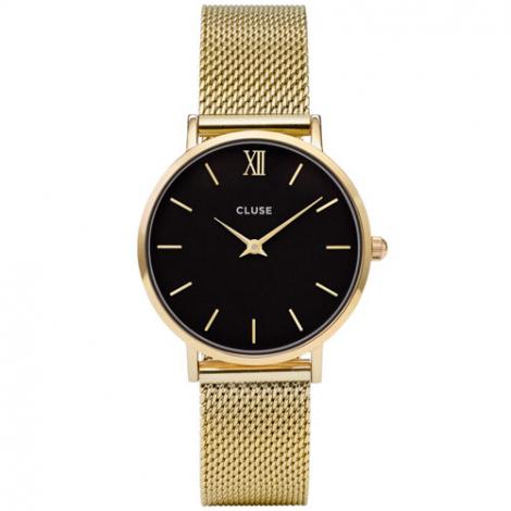 Montre Cluse Minuit Mesh Gold/Black - 33 mm - CL30012