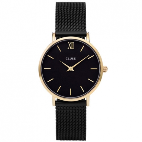 Montre Cluse Minuit Mesh Gold Black/Black - 33 mm - CW0101203009