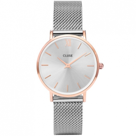 Montre Cluse Minuit Mesh Rose Gold/Silver - 33 mm - CW0101203004