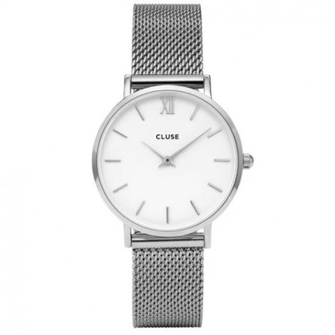 Montre Cluse Minuit Mesh Silver/White - 33 mm - CW0101203002