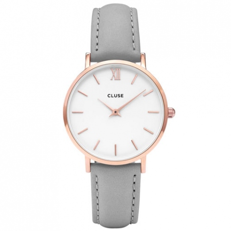 Montre Cluse Minuit Rose Gold White/Grey - 33 mm - CL30002