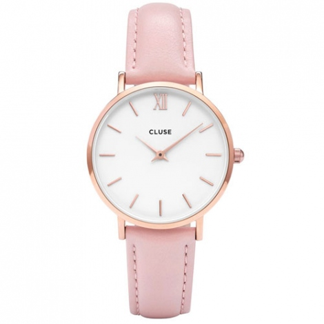 Montre Cluse Minuit Rose Gold White/Pink  - 33 mm - CW0101203006