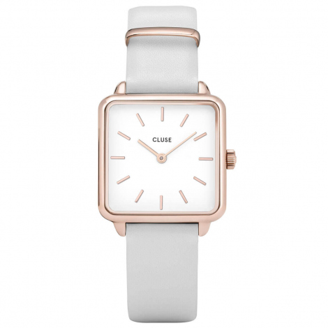 Montre Cluse Tétragone Rose Gold White/White - 28.5 mm - CL60006