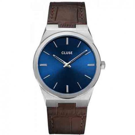 Montre Cluse Homme Vigoureux Leather Silver Dark Brown - CW0101503001