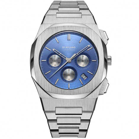 Montre D1 Milano CHBJ02- Homme  Quartz- cadran Bleu- 41.5 mm - Acier inoxydable