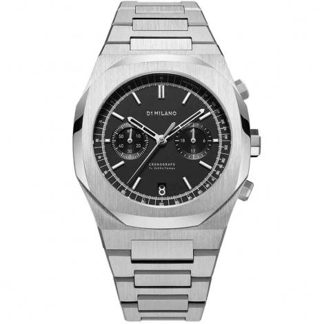 Montre D1 Milano Chronograph Brave CHBJ08- Homme  Quartz- cadran Noir- 41.5 mm - Acier et PVD