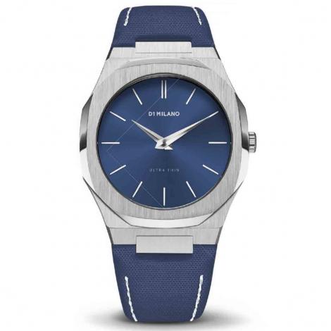 Montre D1 Milano Ultra Thin UTNJ04- Homme  Quartz- cadran Bleu- 40 mm - Acier inoxydable