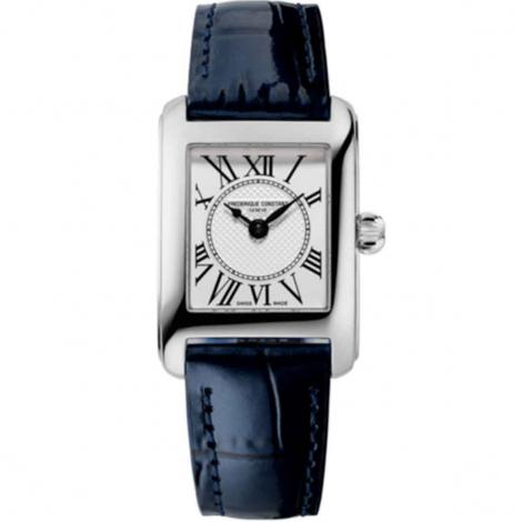 Montre Frédérique Constant Classics Carrée Ladies Quartz Cadran Blanc Bracelet Cuir - FC-200MC16