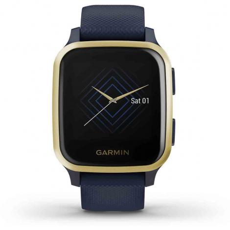 Montre Garmin Venu SQ Music Edition - Captain Blue/Light Gold - 010-02426-12