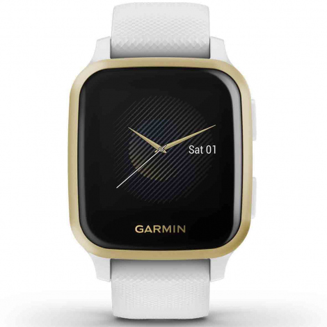 Montre Garmin Venu SQ - White / Light Gold - 010-02427-11
