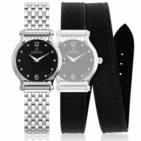 Montre Herbelin Antares - bracelet Acier inoxydable - COF.17447/B84LN